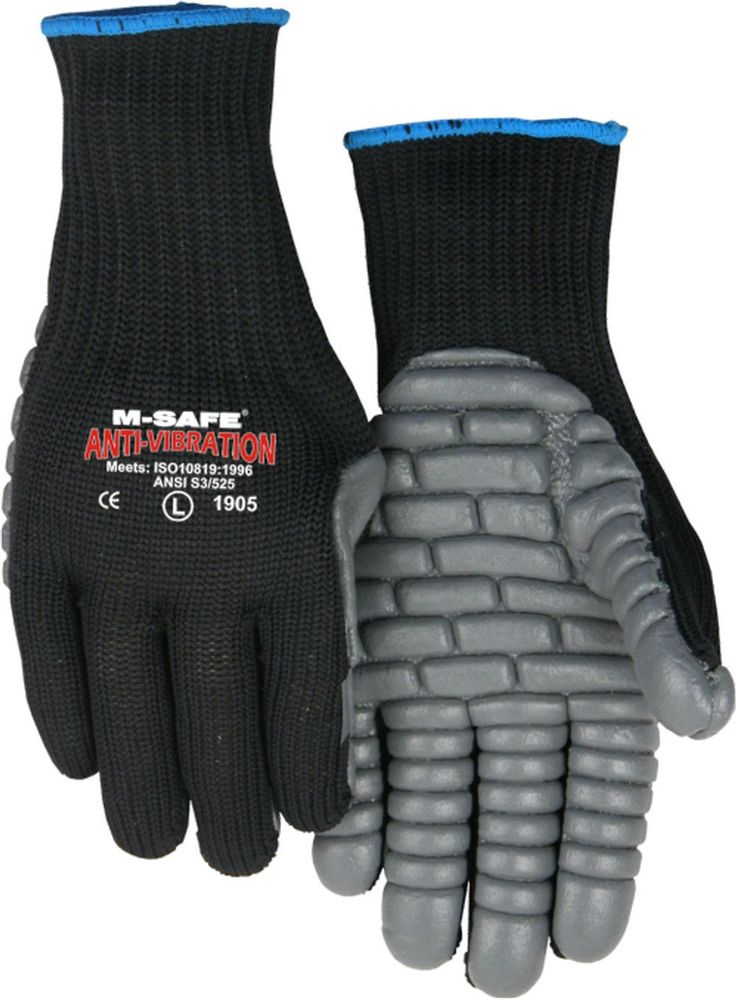 Majestic 1905 Full-Fingered 7-gauge Anti-Vibration Gloves Neoprene Palm