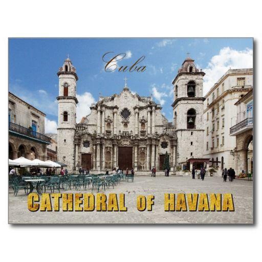 Catedral del siglo XVIII de La Habana, La Habana. #tarjeta #postal #postcard