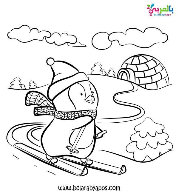 اجمل صور تلوين لفصل الشتاء للاطفال صور تلوين شتاء 2021 للطباعة بالعربي نتعلم In 2021 Penguin Coloring Pages Coloring Pages For Kids Penguin Coloring