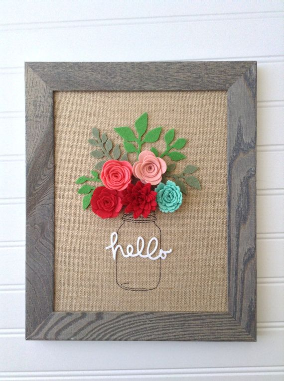 $40.00 Made To Order Natural burlap board Felt by BlueHouseDesignz