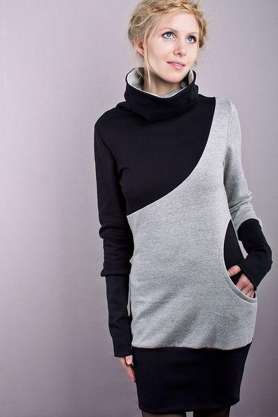 """Stretchkleider - sweatkleid """"anemone"""" - ein Designerstück von bluetezeit-berlin bei DaWanda"""