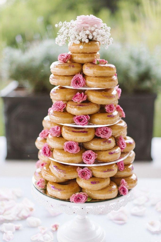 wedding desserts | doughnut cake by Vikki from the reception venue Elixir.
