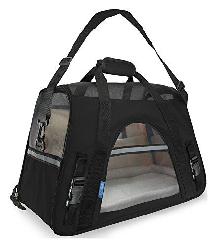 Pet Carrier Soft Sided Small Cat  Dog Comfort Black Travel Bag Airline Approved Buyers Choice *** Want to know more, click on the image.(This is an Amazon affiliate link and I receive a commission for the sales)