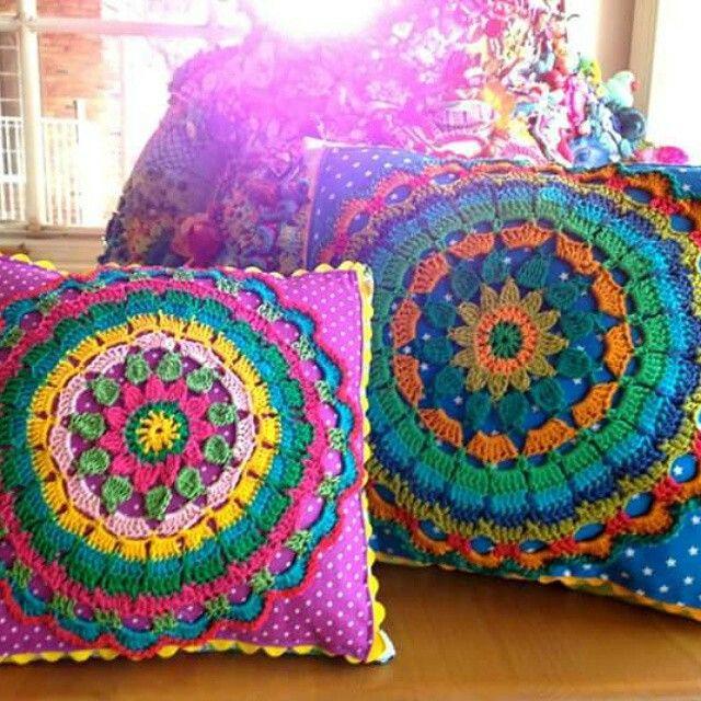 Mejores 354 imágenes de Crochet Cojines - Pillows en Pinterest ...