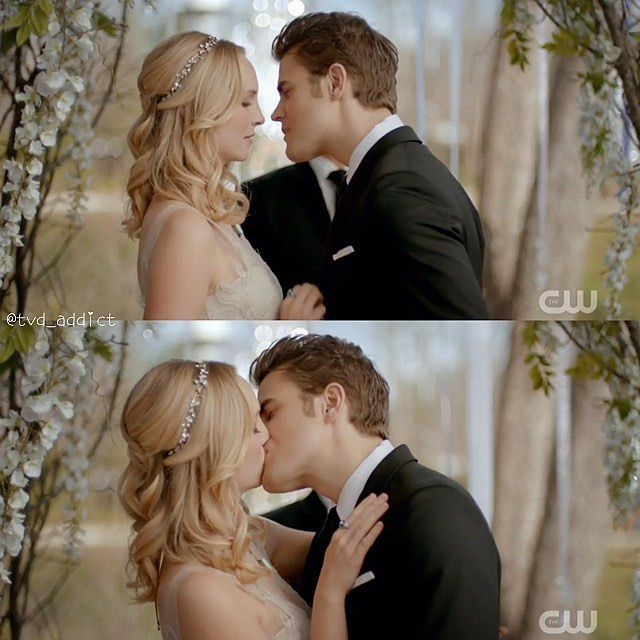 "#TVD 8x15 ""We're Planning a June Wedding"" - Caroline and Stefan"