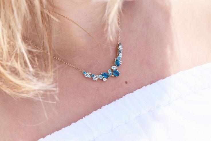 fashion, look, jewellery, biżuteria, W.Kruk, blue