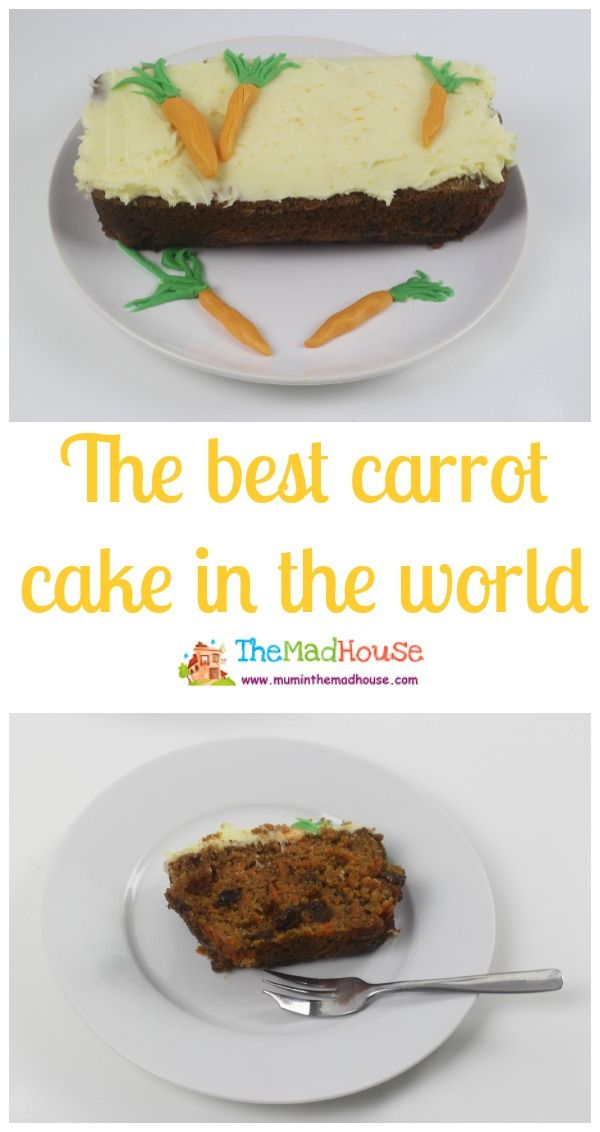 The best carrot cake in the world, ideal for cooking with kids and getting your kids in the kitchen.  This simple recipe is easy and delicious making it perfect for children
