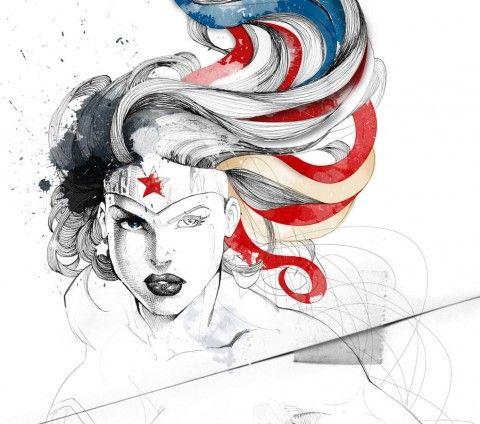 Illustration - David Despau - The Mushroom Company - wonder woman