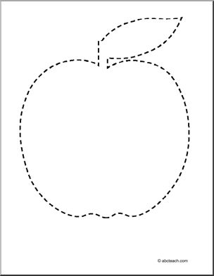 Trace and Color Apple Pattern