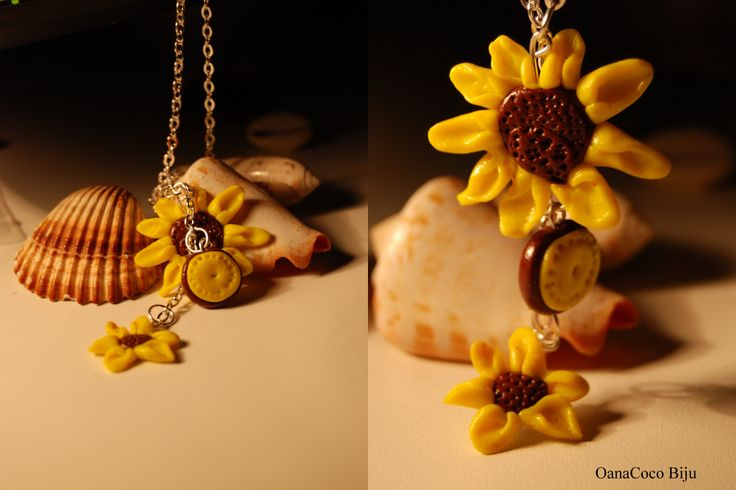 Pandantiv flori galbene