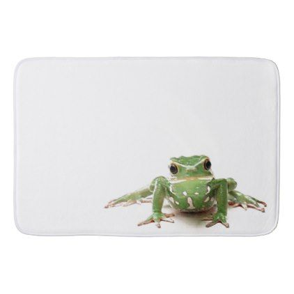 Green Frog Bathroom Mat - animal gift ideas animals and pets diy customize