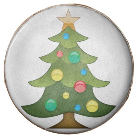 Christmas Tree Emoji Chocolate Covered Oreo