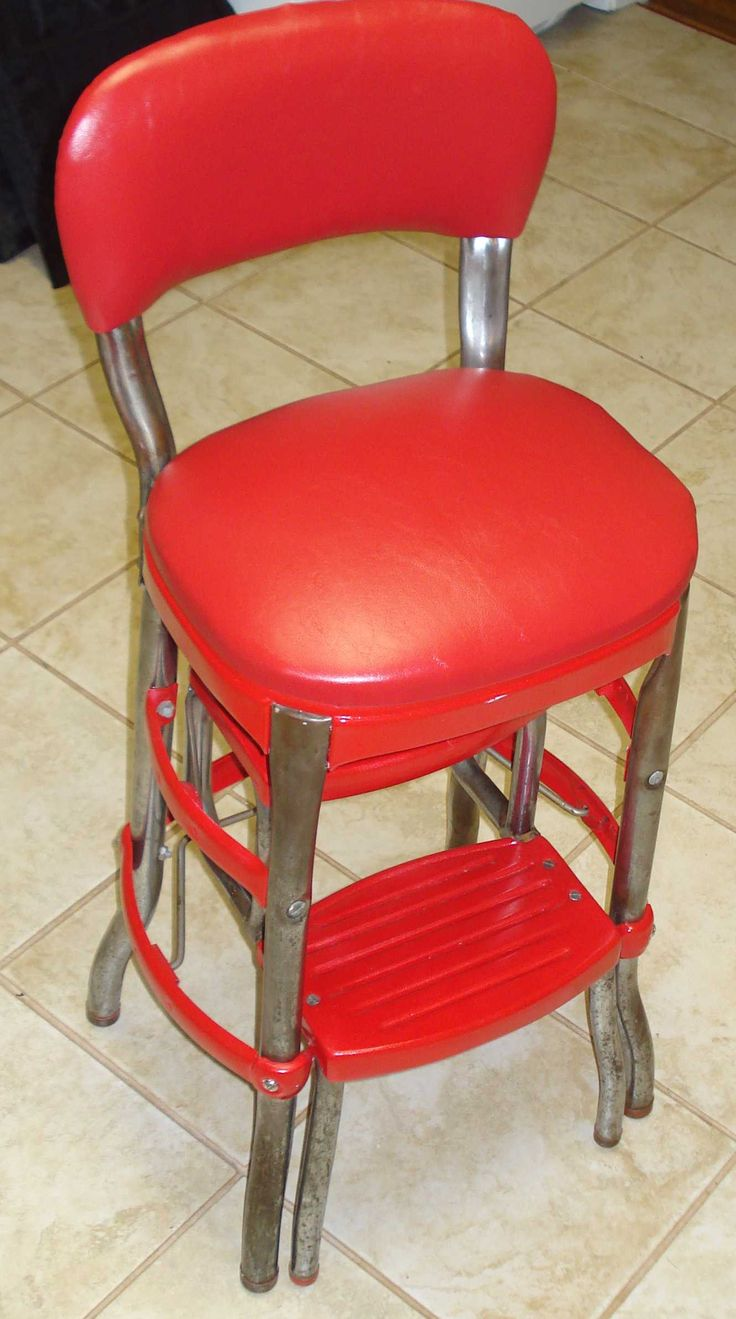 Cosco step stool chair - Cosco Step Ladder Chair Restoration
