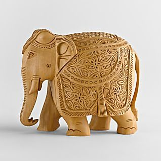 Hand carved elephant  sculpture