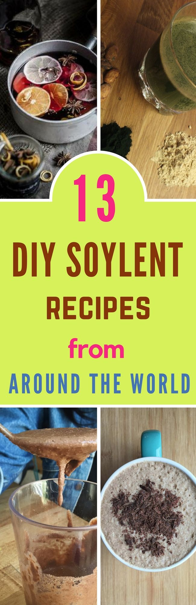 Must try these 13 DIY Soylent Recipes For Fulfilling Your Daily Nutrition  #diysoylent #soylent #foodsubstitute
