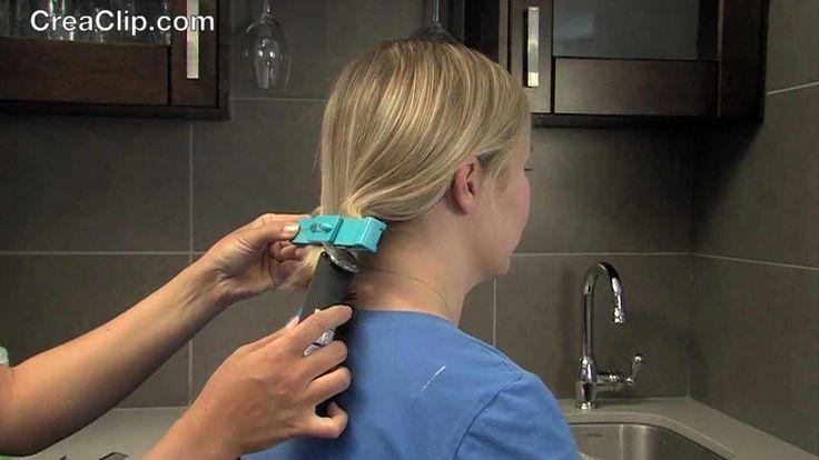 How to cut an A-Line bob haircut ! DIY and cut a bob hairstyle with the CreaClip
