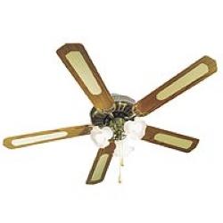 Maison : Ventilateurs / Climatiseurs : Ventilateur de plafond grand modèle. 5 pales Ø 132 cm.