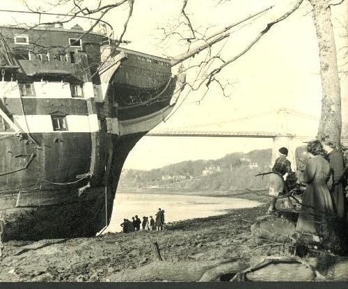 The end of the old ship, HMS Conway.