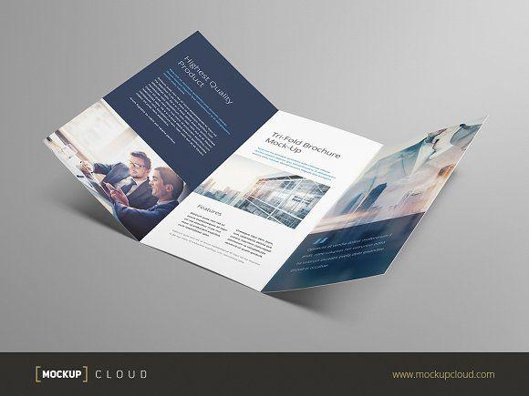 Tri-fold Brochure Mock-Up by Mockup Cloud on @creativemarket