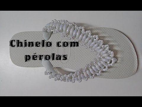 CHINELO COM PÉROLAS GRÃO DE ARROZ - YouTube                              …