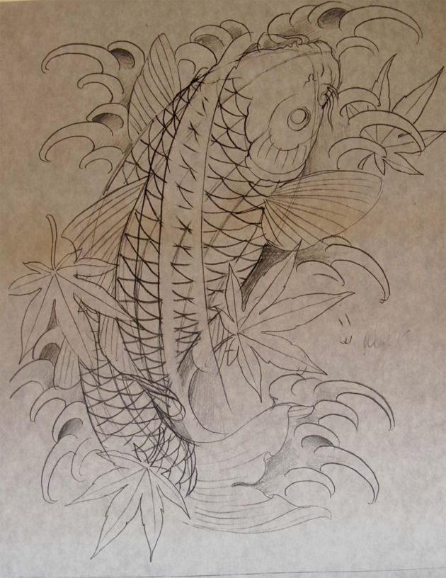 koi fish by chris garver - Resultados da pesquisa de http://senseslost.com/third-rail-content/uploads/spotted-koi-fish-sketch-chris-garver.jpg no Google