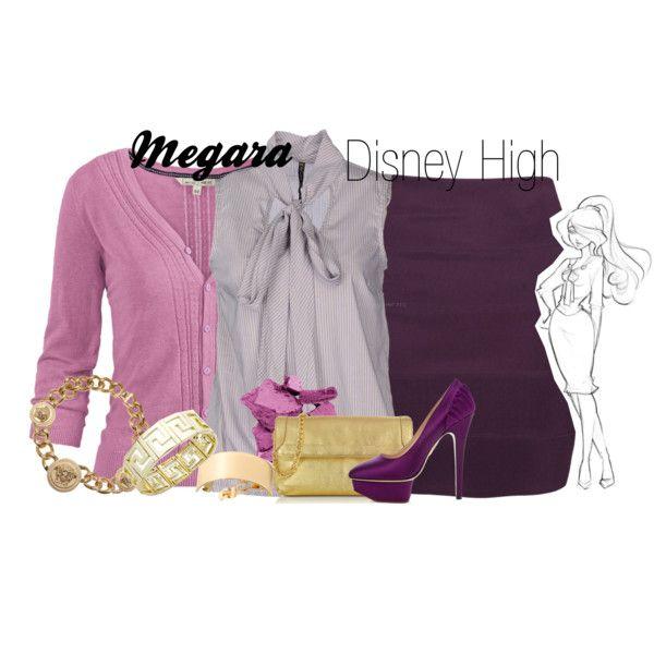 """Megara Disney High"" by amarie104 on Polyvore"