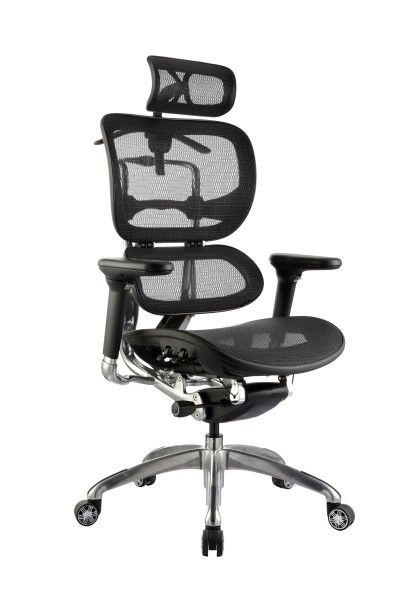 The Ergo1 Activ Mesh Chair is available in Black Mesh only with polished 5 Star Base, polished Back upright and accented Adjustable Armrests. With lever and Cable operated mechanisms #seated #ergonomic #robot #mesh seated.com.au