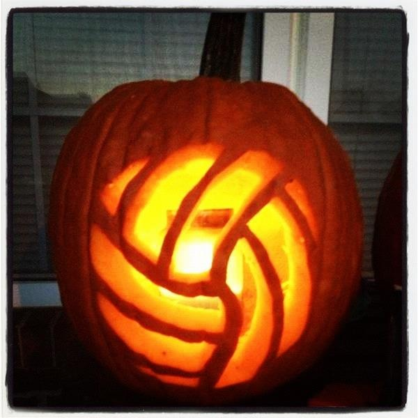 Volleyball jack o lantern pinterest