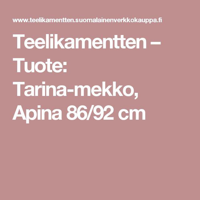 Teelikamentten – Tuote: Tarina-mekko, Apina 86/92 cm