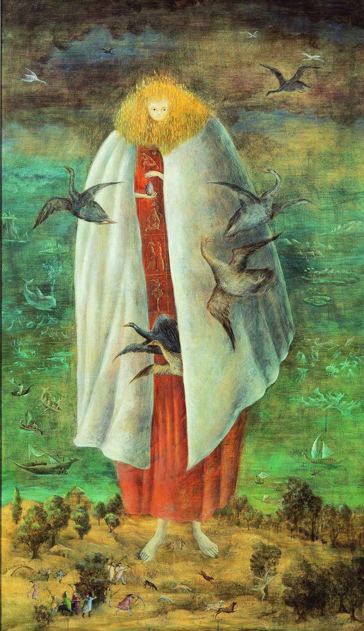 Leonory Carrington jak i Remedios Varo - dwie surrealistki, o których prawdopodobnie nigdy nie słyszeliście Leonora Carrington Olbrzymka, (obraz, który zainspirował jeden z teledysków Madonny), ok. 1947, fot.: theguardian.com