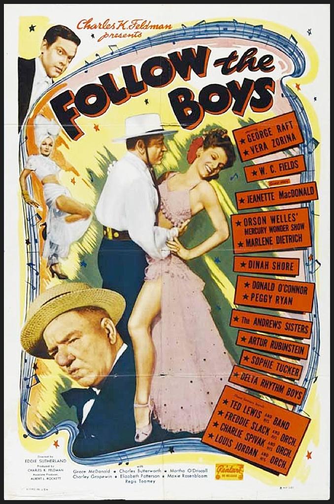 Follow The Boys (1944) Starring George Raft, Vera Zorina