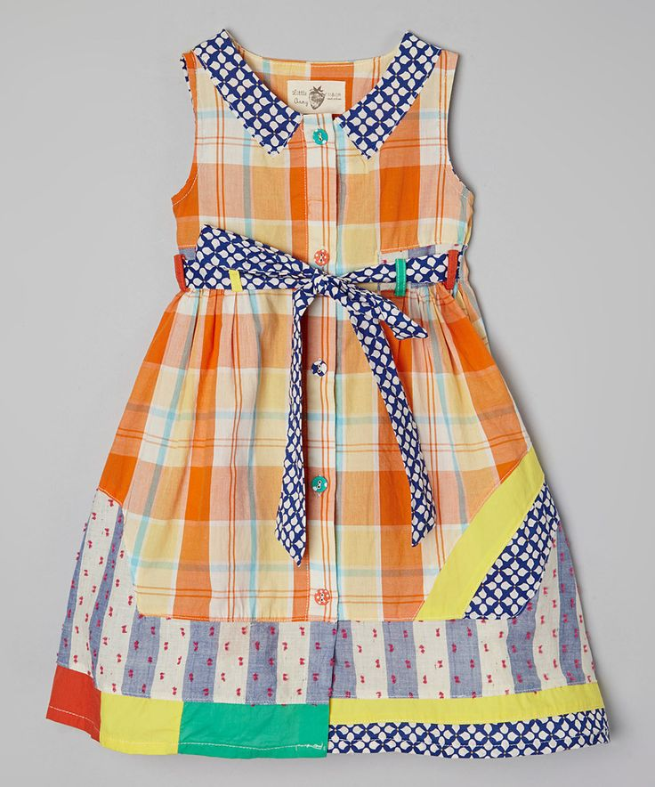 This Poco & Picotine Orange Plaid Dress - Toddler & Girls by Poco & Picotine is perfect! #zulilyfinds
