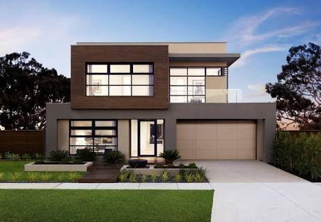 modern contemporary home facade double storey - Google Search