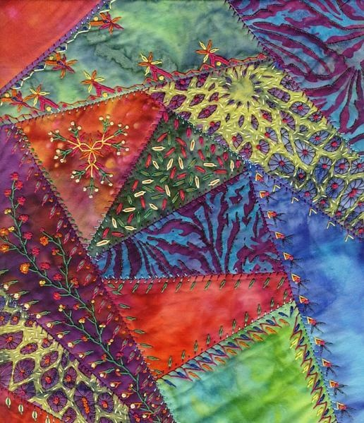 Crazy Quilting Stitches Patterns : Best 25+ Crazy patchwork ideas on Pinterest Crazy quilting, Crazy quilt stitches and Feather ...
