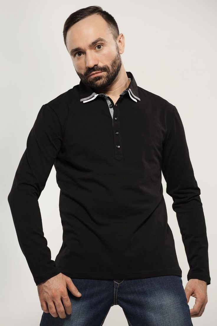 Polo Long Sleeves Stretch MAVANGO AW-14  M-42717-C91DS