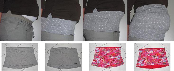 In meiner Schwangerschaft ging es sehr schnell, dass die Oberweite wuchs und die T-Shirts und Pullies nicht mehr den Bauch abdeckten (auch wenn da noch kein Bauch war). Um kein Nierenleider zu beko...