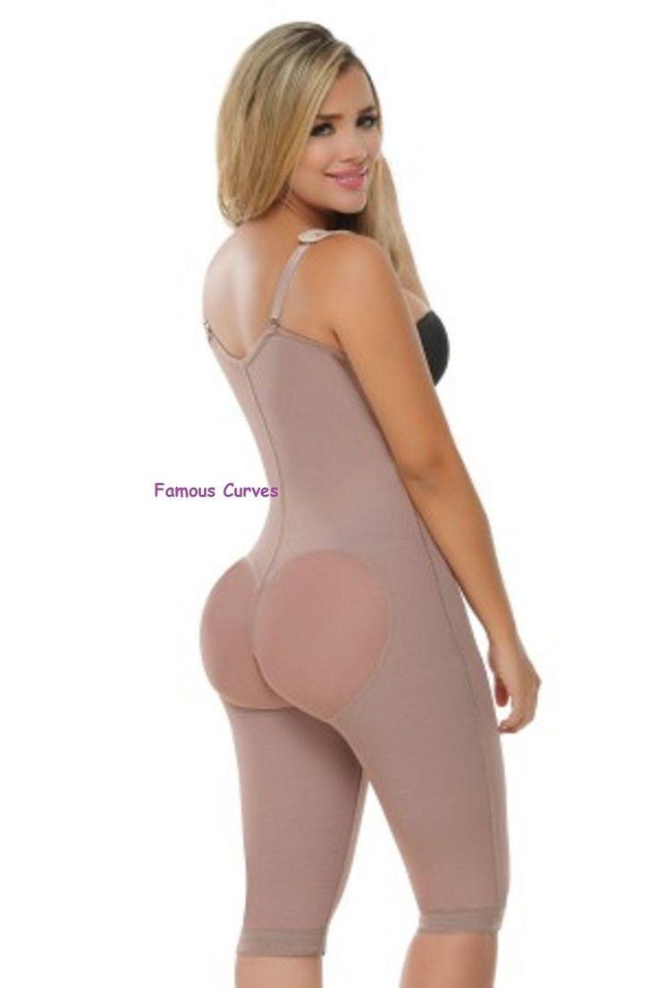 Women'S Post Surgery Shaper, Long Leg Bodysuit, Fajas Levanta Cola Colombiana As