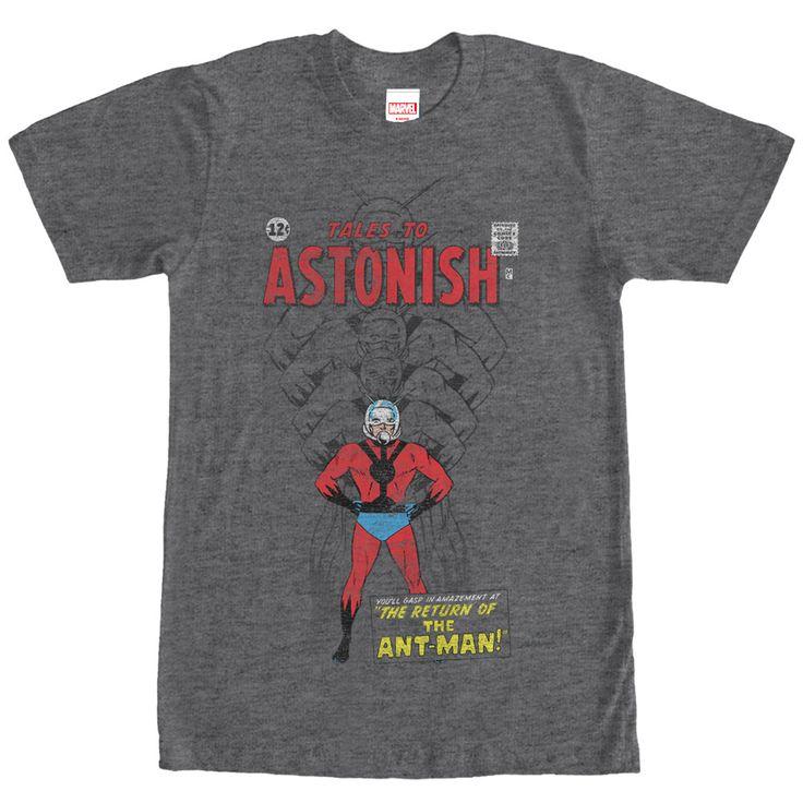 Marvel Ant-Man Shrinking Tales to Astonish Heather Charcoal T-Shirt