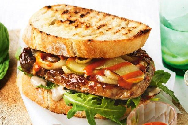 Smokey BBQ steak sandwich
