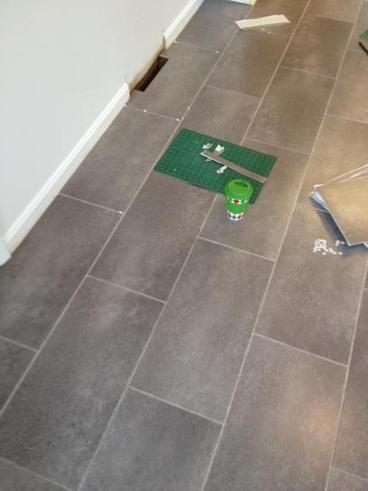 Coastal Grey Resilient Vinyl Tile Flooring 30 Sq Ft Case