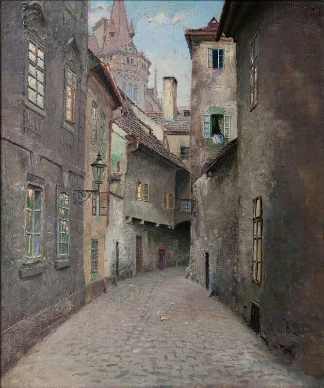 Old Praha Jan Bedřich Minařík. Czech (1862 - 1937)