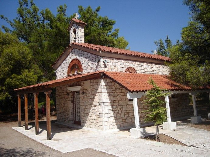 Saint Barbara church in Peukias pine forest