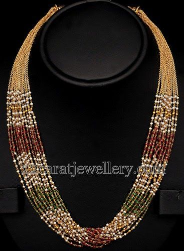 Jewellery Designs: Multistarnds 22k Gold Set