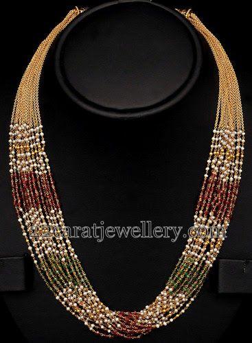 Jewellery Designs: Multistarnds 22k Gold Set