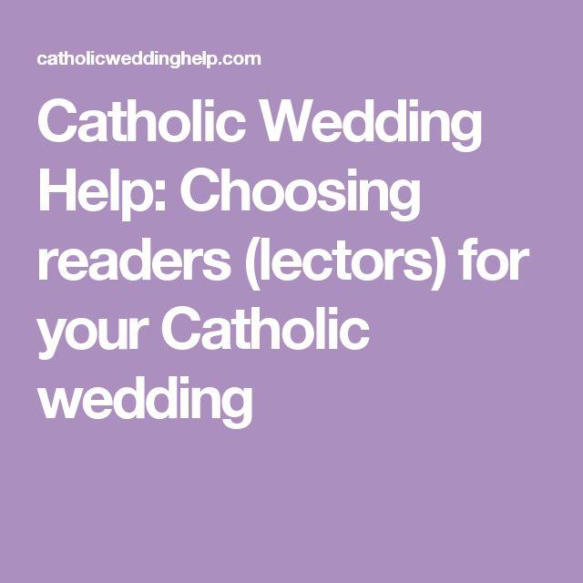 Catholic Wedding Help: Choosing readers (lectors) for your Catholic wedding