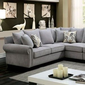 This essential modern living room set features plush seats and cushions and attractive rolled arms.