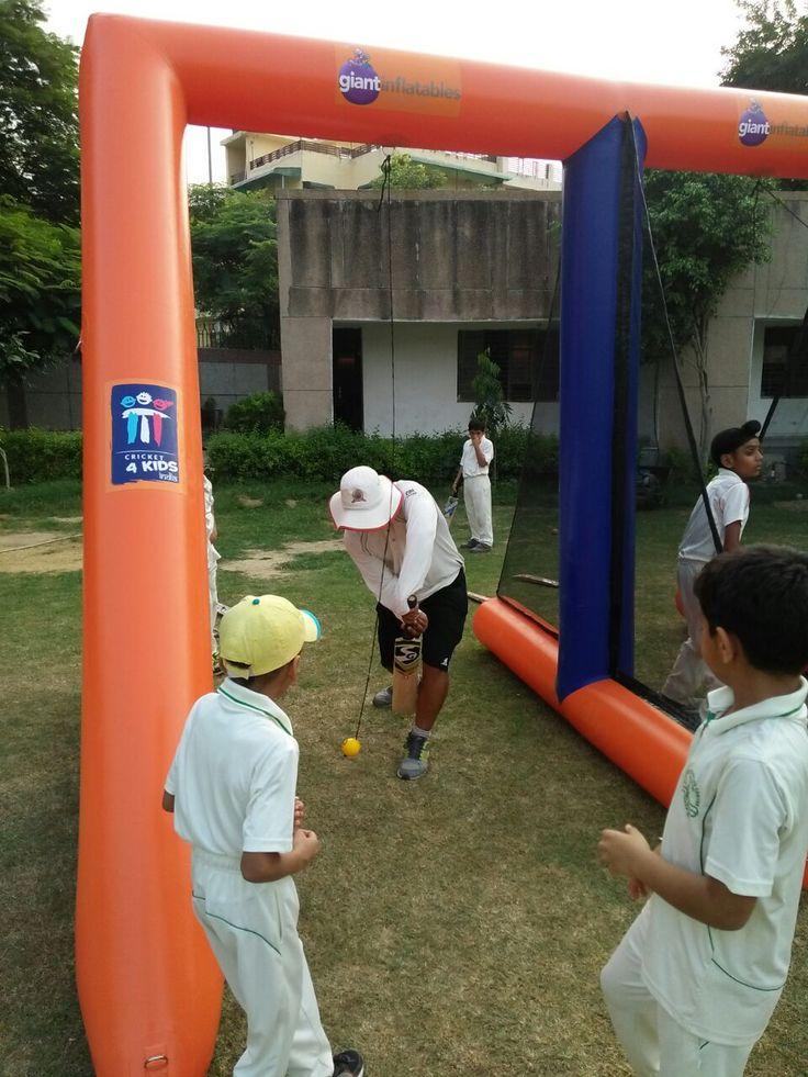 Inflatable Cricket batting practice beam