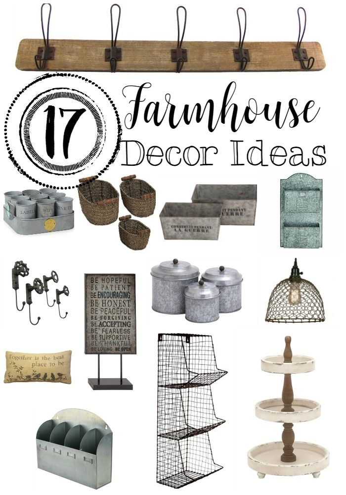 17 Farmhouse Decor to help with storage and other ideas | www.raggedy-bits.com