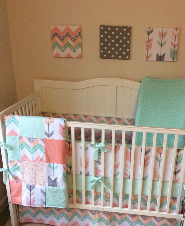 Best 25+ Coral chevron bedding ideas on Pinterest | Coral ...