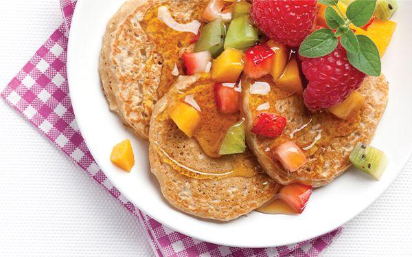 Para desayunar o cenar estos hot cakes de avena y amaranto son deliciosos y saludables. ¡Pruébalos!